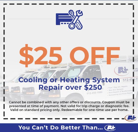 A-Plus Air Conditioning & Home Solutions - Discounts on Cooling or Heating System Repair