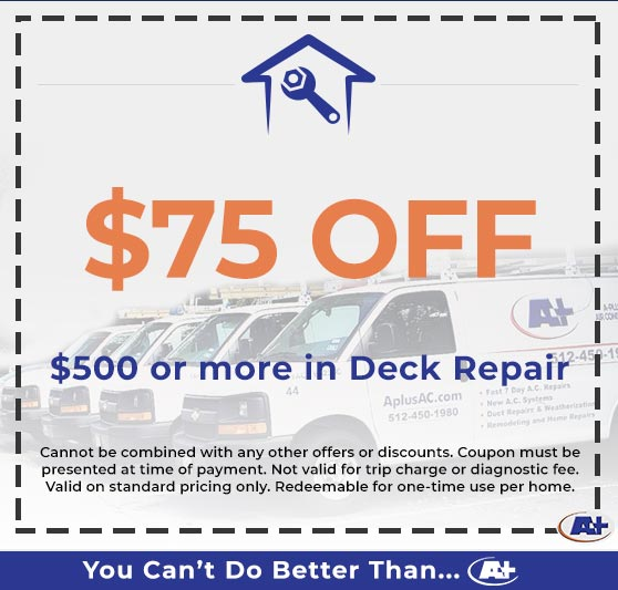 A-Plus Air Conditioning & Home Solutions - Discounts on Deck Repair