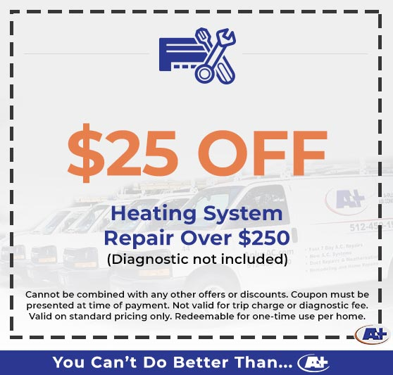 A-Plus Air Conditioning & Home Solutions - Discounts on Heating System Repair