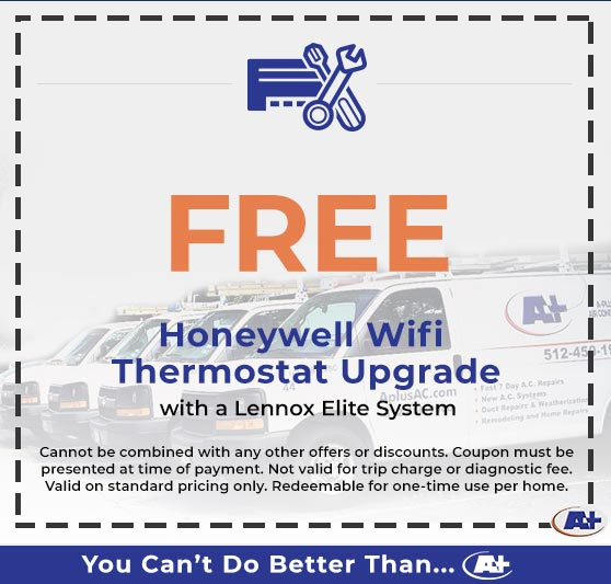 A-Plus Air Conditioning & Home Solutions - Free Honeywell Wifi Thermostat Upgrade
