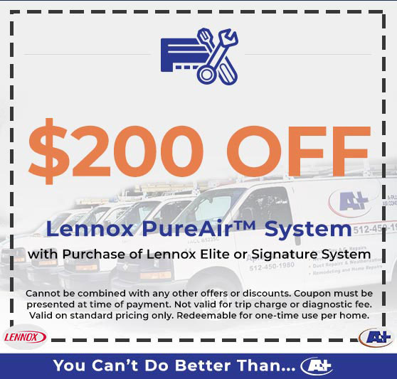 A-Plus Air Conditioning & Home Solutions - Discounts on Lennox PureAir System