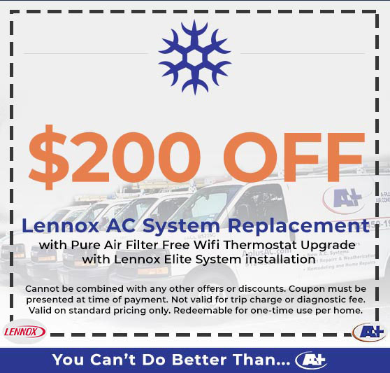 A-Plus Air Conditioning & Home Solutions - Discounts on Lennox AC System Replacement