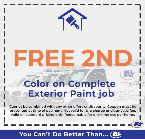 A-Plus Air Conditioning & Home Solutions - Free Color on Complete Exterior Paint Job