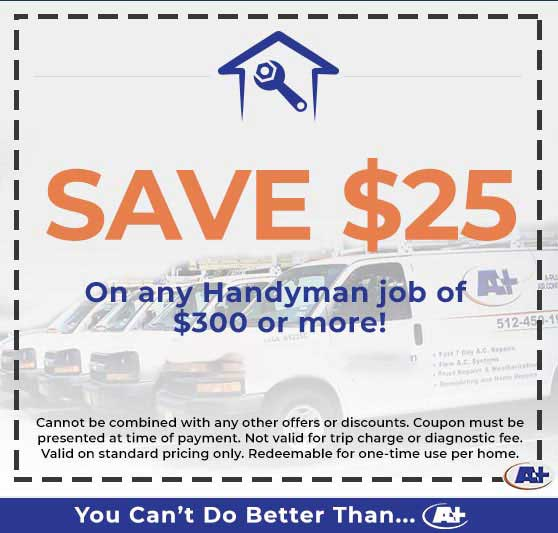 A-Plus Air Conditioning & Home Solutions - Discounts on Any Handyman Job