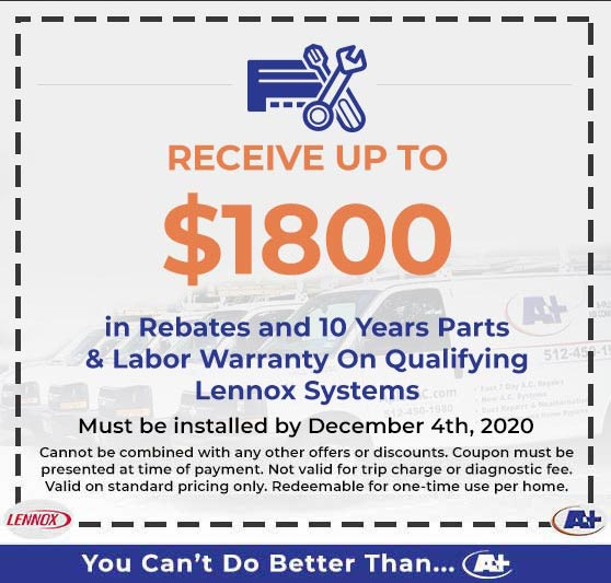 A-Plus Air Conditioning & Home Solutions - Lennox Rebates