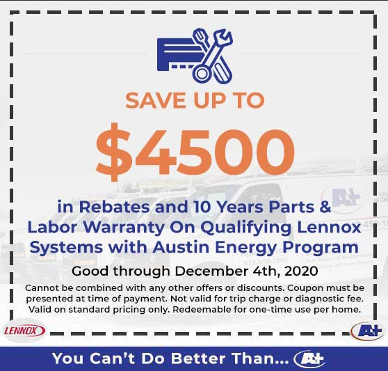A-Plus Air Conditioning & Home Solutions - Save up to $4300 in Rebates & Discounts on Qualifying Lennox Systems